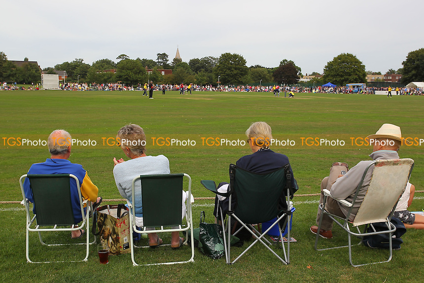 General view of play - Upminster CC vs Essex CCC - David Masters Benefit Match at Upminster Park - 01/09/13 - MANDATORY CREDIT: Gavin Ellis/TGSPHOTO - Self billing applies where appropriate - 0845 094 6026 - contact@tgsphoto.co.uk - NO UNPAID USE