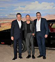 "LOS ANGELES, USA. October 08, 2019: Aaron Paul, Bryan Cranston & Vince Gilligan  at the premiere of ""El Camino: A Breaking Bad Movie"" at the Regency Village Theatre.<br /> Picture: Paul Smith/Featureflash"