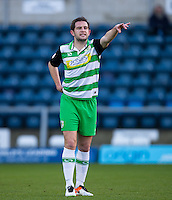 Matthew Dolan of Yeovil Town during the Sky Bet League 2 match between Wycombe Wanderers and Yeovil Town at Adams Park, High Wycombe, England on 14 January 2017. Photo by Andy Rowland / PRiME Media Images.