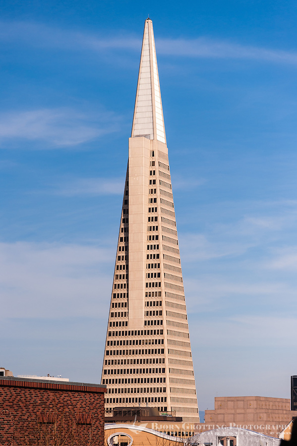 United States, California, San Francisco. Transamerica Pyramid.