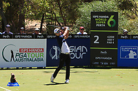 Yi-keun Chang (KOR) in action on the 2nd during Round 3 of the ISPS Handa World Super 6 Perth at Lake Karrinyup Country Club on the Saturday 10th February 2018.<br /> Picture:  Thos Caffrey / www.golffile.ie<br /> <br /> All photo usage must carry mandatory copyright credit (&copy; Golffile | Thos Caffrey)
