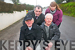 The  residents of Sunhill in Killorglin are calling on Kerry County Council to underworks on the road which has been described as being in a 'deplorable' state. .Front L-R Laurence Coffey, Bernard Flynn .Back L-R Cllr Michael Cahill and Mary Tuohy. .
