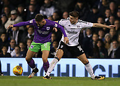 31st October 2017, Craven Cottage, London, England; EFL Championship football, Fulham versus Bristol City; Josh Brownhill of Bristol City and Tom Cairney of Fulham compete for the ball