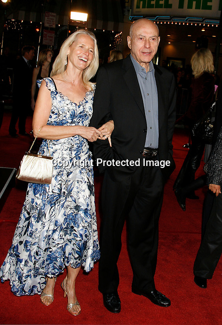 "WESTWOOD, CA. - December 11: Actor Alan Arkin and wife Suzanne Arkin arrive at the Los Angeles premiere of ""Marley & Me"" on December 11, 2008 in Los Angeles, California."
