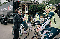 pre-training breefing by DS Giorgia Bronzini (ITA)<br /> <br /> Team Trek-Segafredo women's team<br /> training camp<br /> Mallorca, january 2019<br /> <br /> &copy;kramon