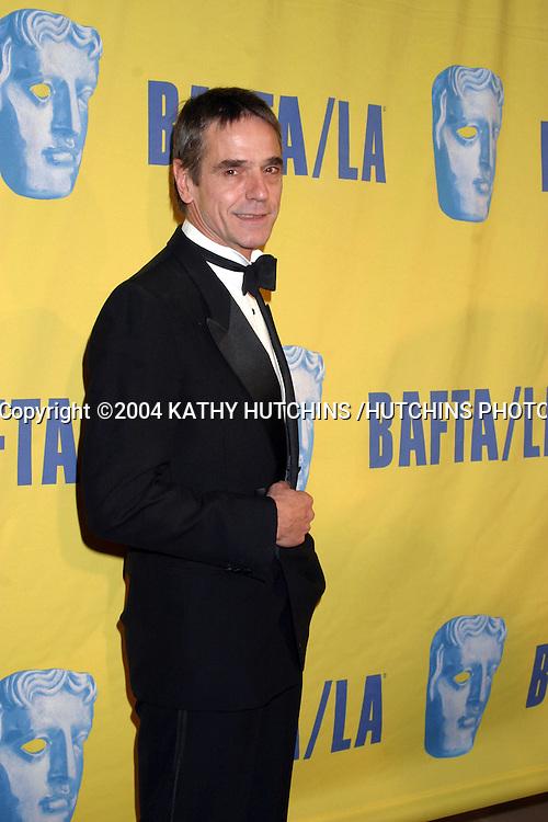 ©2004 KATHY HUTCHINS /HUTCHINS PHOTO.13TH ANNUAL BAFTA /LA BRITANNIA AWARDS.LOS ANGELES, CA.NOVEMBER 4, 2004..JEREMY IRONS.