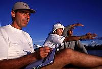 Rio Purus.<br /> Primeira expedição científica para criação da RDS Piagaçu Purus subindo o rio até a Boca do Abufari.<br /> Amazonas, Brasil.<br /> Foto Paulo Santos<br /> 06/2001