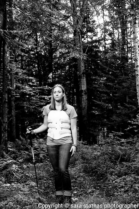 "Amber Kohnhorst, photographed for her story of ""Survival, Out Alive"" in Backpacker Magazine"