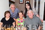Family visiting from America having a gathering with cousins in Bella Bia on Friday night.Front l-r Cathy Podesta,Christine Fitzgerald and Jerry Podesta.Back l-r Padraig Fitzgerald and Rachel Falvey