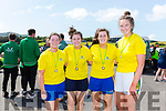 The Callinafercy U18 ladies were the victors at the County Championships in Waterville on Saturday pictured here l-r; Grace O'Grady, Aoife Murphy, Orla Murphy & Sarah Kennedy, with Workmen taking second and Callinafercy's second crew taking third place.
