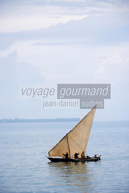 Afrique/Afrique de l'Est/Tanzanie/Zanzibar/Ile Unguja/Stone Town: Boutre bateau des pécheurs de l'Ile