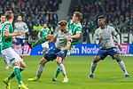 08.03.2019, Weser Stadion, Bremen, GER, 1.FBL, Werder Bremen vs FC Schalke 04, <br /> <br /> DFL REGULATIONS PROHIBIT ANY USE OF PHOTOGRAPHS AS IMAGE SEQUENCES AND/OR QUASI-VIDEO.<br /> <br />  im Bild<br /> <br /> Niklas Moisander (Werder Bremen #18)<br /> Guido Burgstaller (FC Schalke 04 #19)<br /> <br /> Foto &copy; nordphoto / Kokenge