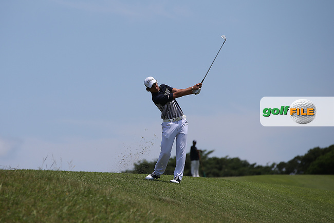 Adrien Saddier (FRA) plays down to the last during Round Three of The Africa Open 2014 at the East London Golf Club, Eastern Cape, South Africa. Picture:  David Lloyd / www.golffile.ie