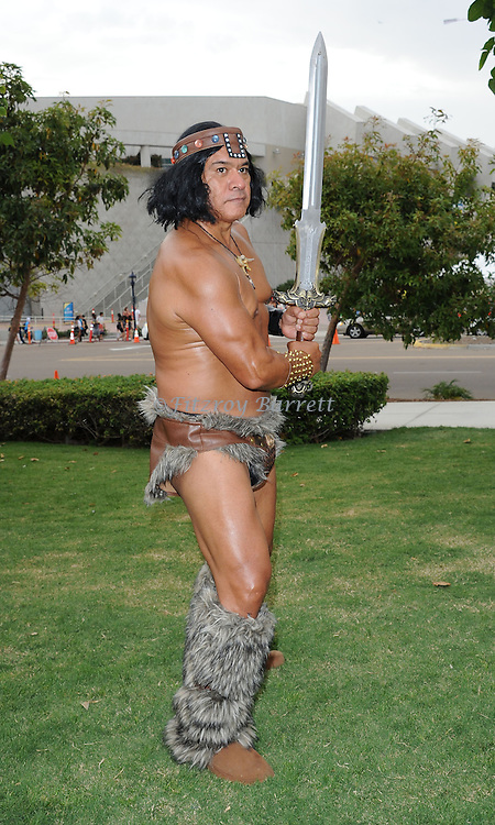 Conan the Barbarian Fan at Comic-Con 2014 in San Diego, Ca. July 26, 2014.