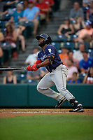 Binghamton Rumble Ponies Barrett Barnes (8) at bat during an Eastern League game against the Richmond Flying Squirrels on May 29, 2019 at The Diamond in Richmond, Virginia.  Binghamton defeated Richmond 9-5 in ten innings.  (Mike Janes/Four Seam Images)