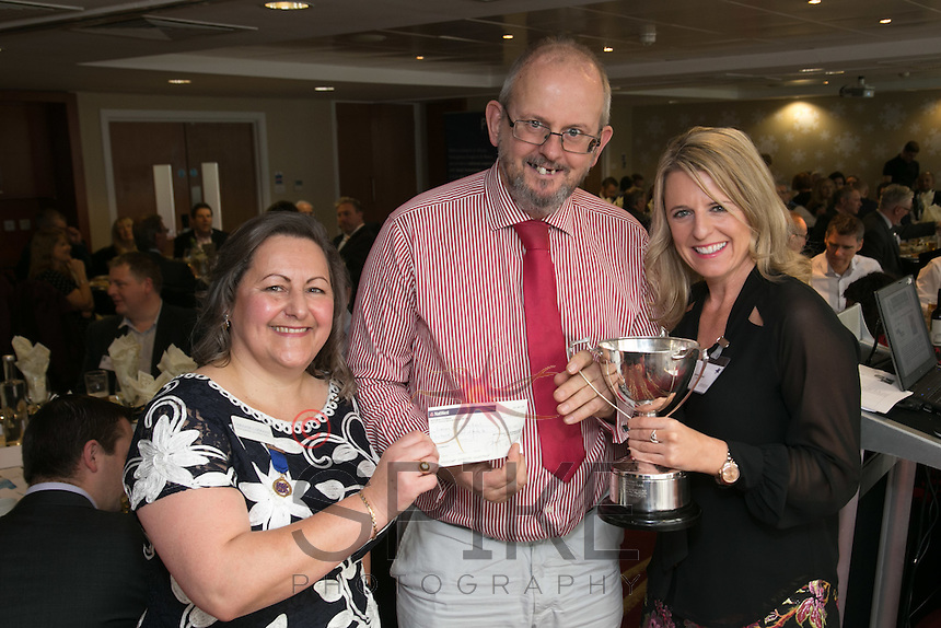 Golf Day Winner Jenna Frudd of FC7 (right) with Deborah Labbate and William Randall of Logistics & Warehouse Services,