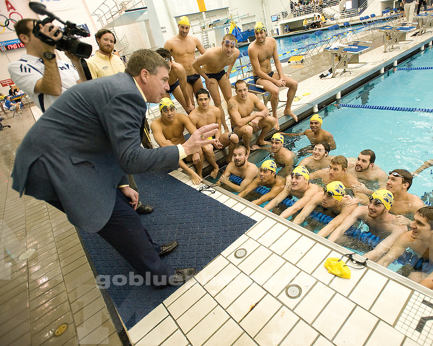 The No. 4 University of Michigan men's swimming and diving team beat Michigan State, 186-102, at Canham Natatorium in Ann Arbor, Mich., on February 4, 2012.