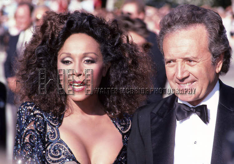 Vic Damone and Diahann Carrolll during 38th Annual Primetime Emmy Awards at Pasadena Civic Auditorium in Pasadena, California, United States. 9/21/1986