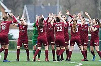 20200208 – BRUGGE, BELGIUM : Genk's players pictured prior to a  women soccer game between Dames Club Brugge and KRC Genk Ladies on the 15 th matchday of the Belgian Superleague season 2019-2020 , the Belgian women's football  top division , saturday 08 th February 2020 at the Jan Breydelstadium – terrain 4  in Brugge  , Belgium  .  PHOTO SPORTPIX.BE | DAVID CATRY