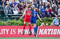 Boston, MA - Sunday September 10, 2017: Celeste Boureille and Natasha Dowie during a regular season National Women's Soccer League (NWSL) match between the Boston Breakers and Portland Thorns FC at Jordan Field.