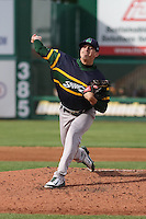 Beloit Snappers pitcher Heath Fillmyer (26) delivers a pitch during a Midwest League game against the Wisconsin Timber Rattlers on May 30th, 2015 at Fox Cities Stadium in Appleton, Wisconsin. Wisconsin defeated Beloit 5-3 in the completion of a game originally started on May 29th before being suspended by rain with the score tied 3-3 in the sixth inning. (Brad Krause/Four Seam Images)
