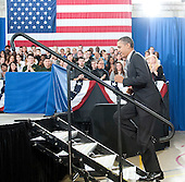 United States President Barack Obama walks to the podium to delivers remarks to students on his FY 2013 Budget at Northern Virginia Community College in Annandale, Virginia on Monday, February 15, 2012..Credit: Ron Sachs / Pool via CNP