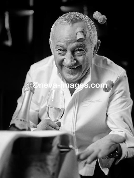 Lausanne, le 31 janvier 2017,Edgar Bovier, pour Krug, chef étoilé du Lausanne Palace, la table d'Edgar © sedrik nemeth