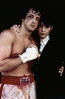 Rocky (1976) <br /> Sylvester Stallone &amp; Talia Shire<br /> *Filmstill - Editorial Use Only*<br /> CAP/KFS<br /> Image supplied by Capital Pictures