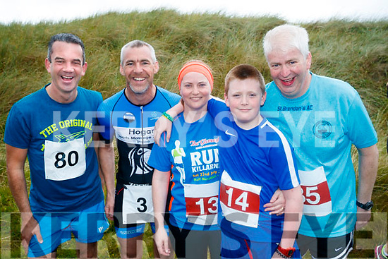 Eoin Porter, Tralee, John O'Sullivan, Tralee, Martina O'Sullivan, Banna, Brendan O'Sullivan, Banna and Dermot Dillane, Abbeydorney pictured at the Banna 10K run on Sunday morning.