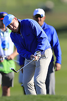 Gerry McManus (IRL) chips onto the 6th green during Sunday's Final Round of the 2018 AT&amp;T Pebble Beach Pro-Am, held on Pebble Beach Golf Course, Monterey,  California, USA. 11th February 2018.<br /> Picture: Eoin Clarke | Golffile<br /> <br /> <br /> All photos usage must carry mandatory copyright credit (&copy; Golffile | Eoin Clarke)