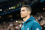 Cristiano Ronaldo of Real Madrid getting into the field during the Europe Champions League 2017-18 match between Real Madrid and Borussia Dortmund at Santiago Bernabeu Stadium on 06 December 2017 in Madrid Spain. Photo by Diego Gonzalez / Power Sport Images
