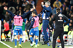 UD Las Palmas' coach Paco Herrera celebrates goal during La Liga match. March 1,2017. (ALTERPHOTOS/Acero)