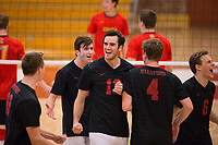 STANFORD, CA - January 2, 2018: Jacob Thoenen, JP Reilly, Kevin Rakestraw, Eric Beatty, Russell Dervay at Burnham Pavilion. The Stanford Cardinal defeated the Calgary Dinos 3-1.
