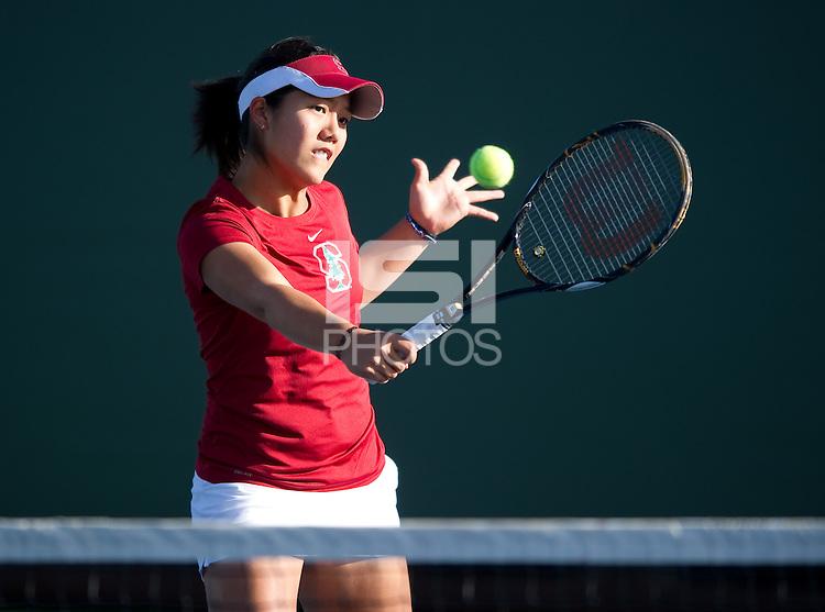 Kristie Ahn of the 2010 Stanford women's Tennis Team.