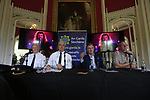 Superintendent Sean Farrell, Chief Superintendent Fergus Healy, Lord Henry Mountcharles and MCD event co-ordinator Eamon Foxat the Slane Castle Trafic Management Press Conference for Metallica concert at Slane Castle, Meath, Ireland. 30/05/2019.<br /> Picture Fran Caffrey / Newsfile.ie<br /> <br /> All photo usage must carry mandatory copyright credit (© Newsfile | Fran Caffrey)