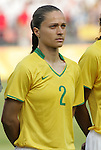 12 August 2008: Simone (BRA).  The women's Olympic team of Brazil defeated the women's Olympic soccer team of Nigeria 3-1 at Beijing Workers' Stadium in Beijing, China in a Group F round-robin match in the Women's Olympic Football competition.