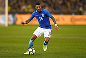 June 13th 2017, Melbourne Cricket Ground, Melbourne, Australia; International Football Friendly; Brazil versus Australia; Paulinho of Brazil controls the ball in midfield
