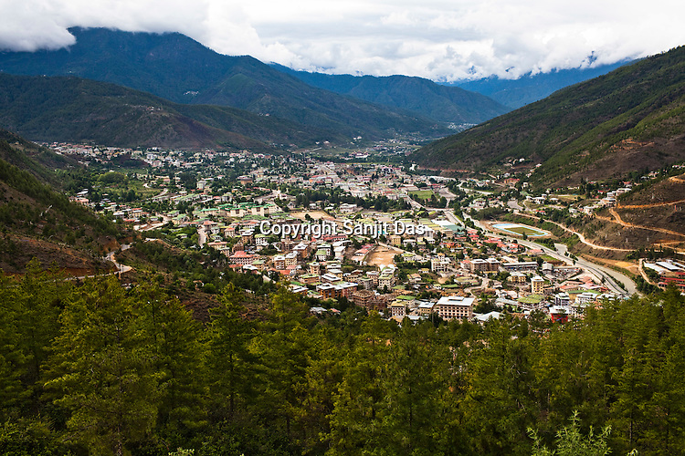An overview of the capital city of Thimphu, Bhutan. Photo: Sanjit Das/Panos