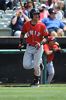 Erie SeaWolves infielder Eugenio Suarez (12) hits a home run during game against the Trenton Thunder at ARM & HAMMER Park on May 29 2013 in Trenton, NJ.  Trenton defeated Erie 3-1.  Tomasso DeRosa/Four Seam Images