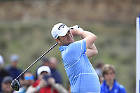 Marc Warren (SCO) on the 11th tee during Round 3 of the Open de Espana 2018 at Centro Nacional de Golf on Saturday 14th April 2018.<br /> Picture:  Thos Caffrey / www.golffile.ie<br /> <br /> All photo usage must carry mandatory copyright credit (&copy; Golffile | Thos Caffrey)