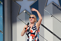 July 3, 2012-- Broadway Star Megan Hilty rehearses for A Capitol Fourth Concert on the lawn of the U.S Capitol in Washington D.C. Credit: mpi34/MediaPunch Inc. /*NORTEPHOTO.COM*<br />