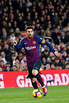 Lionel Andres Messi of FC Barcelona runs with the ball during the La Liga 2018-19 match between FC Barcelona and RC Celta de Vigo at Camp Nou on 22 December 2018 in Barcelona, Spain. Photo by Vicens Gimenez / Power Sport Images