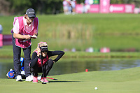 Natalie Gulbis (USA) on the 5th green during Thursday's Round 1 of The Evian Championship 2018, held at the Evian Resort Golf Club, Evian-les-Bains, France. 13th September 2018.<br /> Picture: Eoin Clarke | Golffile<br /> <br /> <br /> All photos usage must carry mandatory copyright credit (© Golffile | Eoin Clarke)