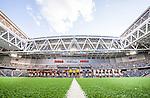 Stockholm 2014-07-31 Fotboll Europa League IF Brommapojkarna - Torino FC :  <br /> Vy &ouml;ver Tele2 Arena under lineup inf&ouml;r matchen mellan Brommapojkarna och Torino<br /> (Foto: Kenta J&ouml;nsson) Nyckelord:  BP Brommapojkarna IFB Tele2 Arena Europa League Torino FC TFC Italien Itay inomhus interi&ouml;r interior