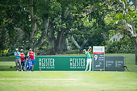 Yikeun Chang (KOR) on the 9th tee during the 3rd round of the AfrAsia Bank Mauritius Open, Four Seasons Golf Club Mauritius at Anahita, Beau Champ, Mauritius. 01/12/2018<br /> Picture: Golffile | Mark Sampson<br /> <br /> <br /> All photo usage must carry mandatory copyright credit (&copy; Golffile | Mark Sampson)
