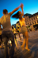 Romania. Iași County. Iasi. Town center. A couple is dancing salsa at twilight on Union Square. In the back, the Grand Hotel Traian was designed and built by Gustave Eiffel. Iași (also referred to as Iasi, Jassy or Iassy) is the largest city in eastern Romania and the seat of Iași County. Located in the Moldavia region, Iași has traditionally been one of the leading centres of Romanian social life. The city was the capital of the Principality of Moldavia from 1564 to 1859, then of the United Principalities from 1859 to 1862, and the capital of Romania from 1916 to 1918. 7.06.15 © 2015 Didier Ruef