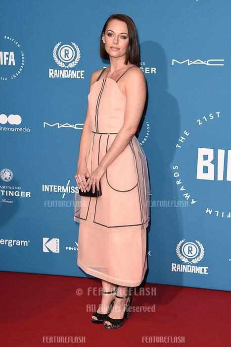 LONDON, UK. December 02, 2018: Jessica Ellerby at the British Independent Film Awards 2018 at Old Billingsgate, London.<br /> Picture: Steve Vas/Featureflash