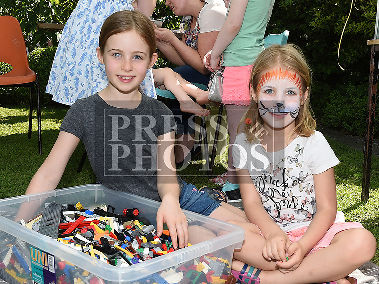 Caitlyn and Michaela Jones at the Collon Church roof restoration fundraiser in Collon House. Photo:Colin Bell/pressphotos.ie