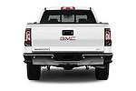 Straight rear view of 2017 GMC Sierra-1500 Crew-Cab-Short-Box-SLT 4 Door Pickup Rear View  stock images