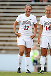 22 August 2014: Ohio State's Bridget Skinner. The Duke University Blue Devils played The Ohio State University Buckeyes at Fetzer Field in Chapel Hill, NC in a 2014 NCAA Division I Women's Soccer match. Ohio State won the game 1-0.